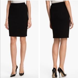 St. John Separates Black Knit Pencil Skirt 10 F921